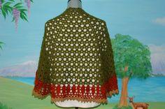 Hexy by Cheri McEwen, #crochet, free pattern, wrap, shawl, #haken,gratis patroon (Engels), omslagdoek met rechte achterkant, haakpatroon