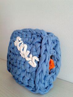 Sugus (hucha) de trapillo. #Crochet