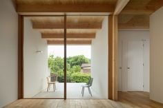 Osaka studio Sides Core has created a house in Kobe, conceived as a series of simple wooden containers