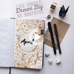 25 Adorable April Spreads for your Bullet Journal! 25 Adorable April Spreads for your Bullet Journal! Bullet Journal Calendrier, April Bullet Journal, Bullet Journal Spread, Bullet Journal Ideas Pages, Bullet Journal Layout, Bullet Journal Inspiration, Bujo, Book And Coffee, Coffee Bullet