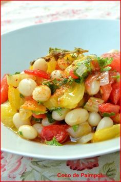 Salade de cocos de Paimpol rafraîchis à la tomate