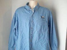 Prairie Mountain Mens XL Denim Blue Jean Shirt 100% Cotton  Alaska #PrairieMountain #ButtonFront