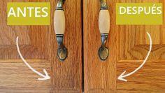 como quitar la grasa de los gabinetes de cocina