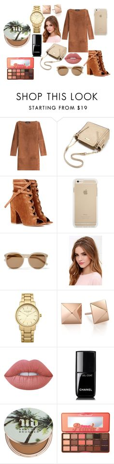 """Style"" by mirela-r13 on Polyvore featuring Vanessa Seward, Gianvito Rossi, Yves Saint Laurent, Lulu*s, Topshop, Lime Crime, Chanel, Urban Decay and Too Faced Cosmetics"