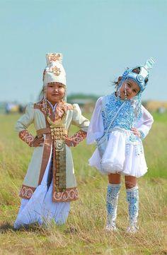 Little Yakut girls.