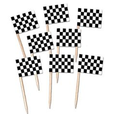 race flag picks are a great party accessory for decorating cupcakes or other food items for a racing theme or hot wheels or nascar party. decorate your sandwiches for your birthday party or your indy event or daytona 500 Hot Wheels Party, Festa Hot Wheels, Hot Wheels Birthday, Race Car Birthday, Cars Birthday Parties, 2nd Birthday, Car Themed Birthday Party, Motocross Birthday Party, Birthday Flags
