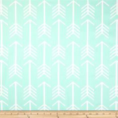 Premier Prints Arrow Macon Twill Mint from @fabricdotcom  Screen printed on cotton twill; this versatile lightweight fabric is perfect for window treatments (draperies, valances, curtains and swags), toss pillows, bed skirts, duvet covers, some upholstery and other home decor accents. Create handbags, apparel (skirts, lightweight jackets, pants) and aprons.*Use  - Do not Dry Clean. Colors include white and mint green.