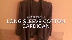 #katekasin Cardigan - I am very happy with the quality and feel of this cardigan. It is very well made and it fits me very well. It lays nicely around my neck and is a good length. The sleeves are a tiny bit long on me but that is not very uncommon for me. The front hangs down a little lower and it looks very cute on. I ordered the navy and it does look exactly as it is pictured. It is a little thinner material but it is not really see though. It is nice and lightweight to wear in the…