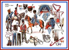 French Hussars of the 9th Bis then 12th regiment 1812-1814