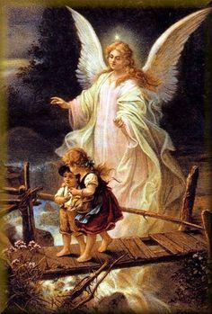 Angel de la guarda: es el ángel al que Dios ha dado la misión de proteger, guardar y guíar a cada hombre durante su vida en la Tierra para facilitarle el ascenso al Cielo