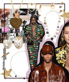 Versace, Hats, Fashion, Jewelry Trends, Necklaces, Hat, Fashion Styles, Fashion Illustrations, Trendy Fashion