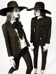 Hedi hats..love this look from head to toe