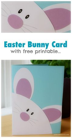 Easy to make Handmade Easter Gift Card with free printable. cards handmade easy Easter Bunny Card – With Free Printable Templates Easter Card Sayings, Diy Easter Cards, Easter Messages, Handmade Easter Cards, Easter Art, Easter Crafts For Kids, Easter Bunny, Happy Easter, Easter Ideas
