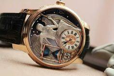 The amazing Carpe Diem watch from master watchmaker Kostantin Chaykin.