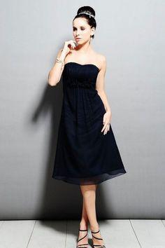 Strapless chiffon bridesmaid dress with empire waist - Wedding look
