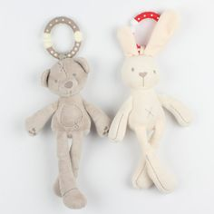 $8.49 - Cool Infant Baby Rattle Cute Rabbit Stroller Wind Chimes Hanging Bell Musical Mobile Baby Toy Doll Soft Bear Bed Appease Rattles Toys - Buy it Now!
