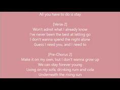 Zedd, Alessia Cara - Stay Lyrics