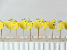 Küken und Mond Baby Topper Stick als Tortendeko oder als Deko für Cupcakes, Muffins oder für den Sweettable Muffins, Cupcakes, Desserts, Baby, The Moon, Cupcake, Deserts, Muffin, Newborn Babies