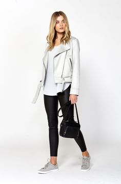 The best of what's new! Shop the Palermo Bonded Biker Jacket in stores and online now www.decjuba.com.au @Decjuba