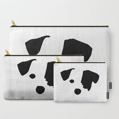 Jack Russell Terrier Dog Breed Pouch, Zippered Bag, B&W Purse, Dog Pencil Case, Coin Purse, Accessory Bag, Organizing Bags, Dog Treat Bag
