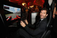 Mark Webber Photos Photos - (EXCLUSIVE ACCESS. PREMIUM RATES APPLY) Mark Webber tries a driving simulator at the GQ Men of the year Award 2016 after show party (german: GQ Maenner des Jahres 2016) at Komische Oper on November 10, 2016 in Berlin, Germany. - After Show Party - GQ Men Of The Year Award 2016