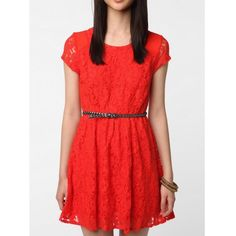 Urban Outfitters Red Lace Dress Coincidence Chance