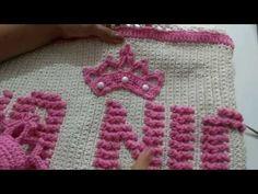 Coroa de crochê para aplicação em tapetes - YouTube