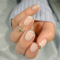 Nude with silver tips