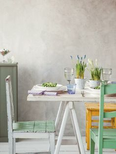 paastafel - easter table setting
