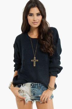 Trin-Knitty Sweater $42 at www.tobi.com