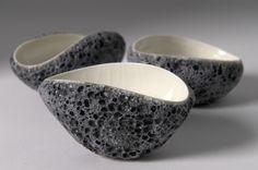 "Volcanic porcelain bowl keramici - Junge Keramikfreunde ""volcanic"" von Carys Davies, Porzellan (http://www.carysdavies.com/) ceramic pottery porcelain ash volcano lava"