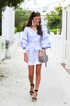 fashion blogger lcb style outfit chloe marcie bag style keepers ruffle outfit tory burch raye seaside florida beach tassel earrings dior so real sunglasses