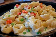 Creamy Tortellini with Red Bell Peppers and Peas | Tasty Kitchen: A Happy Recipe Community!