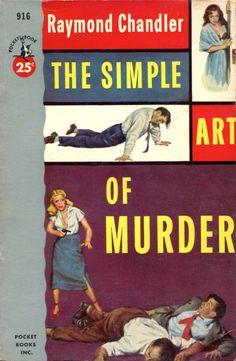 Pocket Books - Simple Art of Murder - Raymond Chandler Agatha Christie, The Big Sleep, Raymond Chandler, Adventure Novels, Pocket Books, Pulp Magazine, Cover Pages, Book Covers, Cover Art