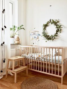 Excited to share the latest addition to my shop: Wood mobile arm - Baby mobile holder - Cot mobile arm - Crib mobile arm - Mobile attachment - Hanger mobile - Natural cot hanger -Mobile arm Wood Crib, Wood Nursery, Nursery Neutral, Nursery Room, Nursery Decor, Simple Baby Nursery, Natural Nursery, Wooden Baby Cot, Bee Nursery