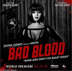 Guess who?: Taylor Swift unveiled Selena Gomez as the latest star to join her Bad Blood mu...