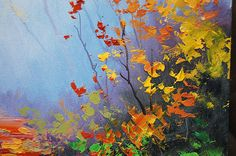 AUTUMN OIL PAINTING fall landscape colorful art Graham gercken