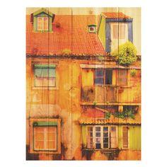 Gizaun Art Painted House Indoor/Outdoor Full Color Cedar Wall Art - PH1624