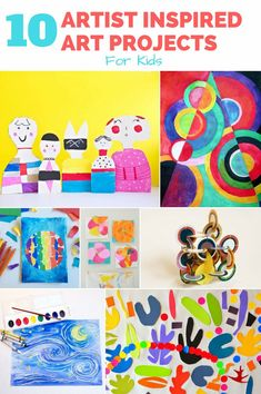 10 Awesome Artist Inspired Art Projects for Kids. So many good art projects for kids inspired by great artist masterpieces. Easy Art Projects, Projects For Kids, Crafts For Kids, Art Crafts, Famous Artists For Kids, Cycle 1, Artist Project, Kids Inspire, Creative Pictures