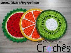 Crochet Flower Coaster Pattern Crochet Pattern by ProchetByEAS Crochet Fruit, Crochet Food, Cute Crochet, Crochet Crafts, Crochet Projects, Crochet Flower Patterns, Crochet Motif, Crochet Doilies, Crochet Flowers
