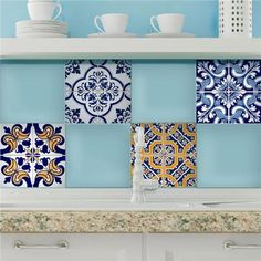 Sun Peel and Stick Tiles- Home Décor Line Wall Decals
