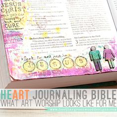 Heather Greenwood | Scrapbooker + Mixed Media Artist: What Does Art Worship Look Like? Journaling Bible Workflow