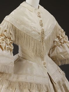 Wedding Dress, 1857. England.