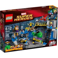 76018 Hulk Lab Smash is a 398 piece Marvel Super Heroes set released in March 2014 intended for Ages It includes The Hulk, Thor, MODOK, Falcon, and Taskmaster. It is based on the TV show Avengers Assemble. Lego Hulk, Hulk Superhero, Hulk Avengers, Spiderman, Superhero Gifts, Legos, Lego Games, Lego Marvel Super Heroes, Hulk Smash