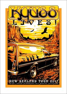 KYUSS Lives! New Zealand Tour Poster by Joe Whyte