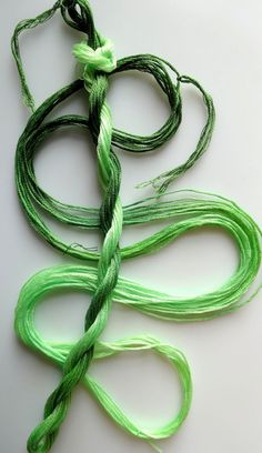Embroidery floss Celery hand dyed cotton by yarnplayer on Etsy