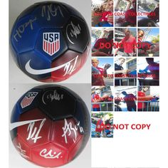 2016 USA Mens National Soccer Team, Signed, Autographed, USA Logo Soccer Ball, a COA with the Proof Photos Will Be Included