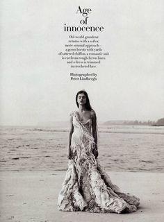 Age of Innocence Natalia Vodianova Peter Lindbergh Harper's Bazaar (2003)