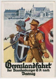 """DANZIG - GRENZLANDFAHRT der BRANDENBURGISCHEN S.A. nach DANZIG - mit Marschstaffel-S-o """"Reichsparteitag 1937"""""""