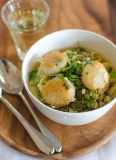 Scallops with Lime and Cilantro